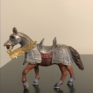 Knights horse.  Figurine. For creative play.